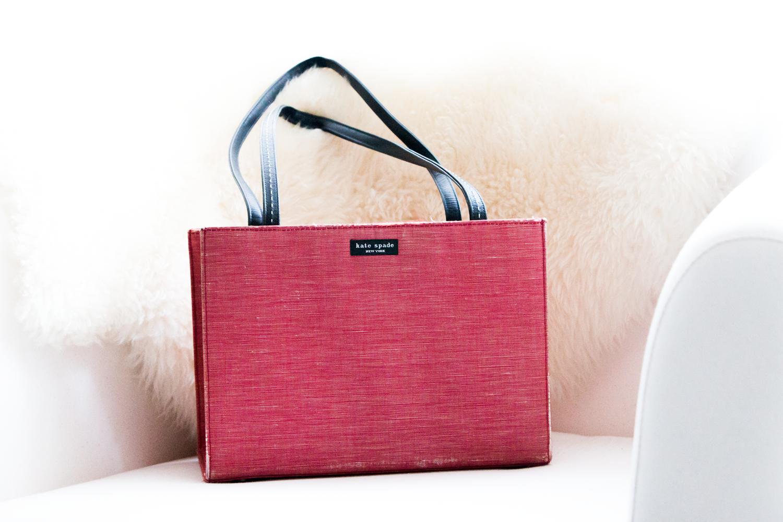 Red Kate Spade Handbag Anthologie De La Mode